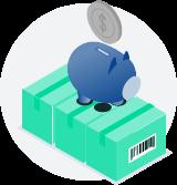 euro's besparen op verzendkosten