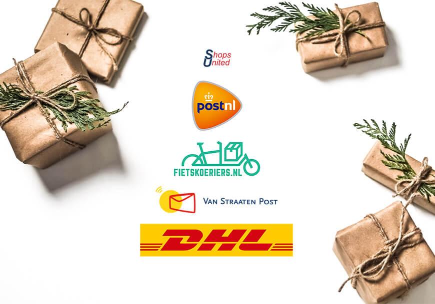 aangepaste bezorgtijden feestdagen dhl postnl vsp en fietskoeriers.nl su