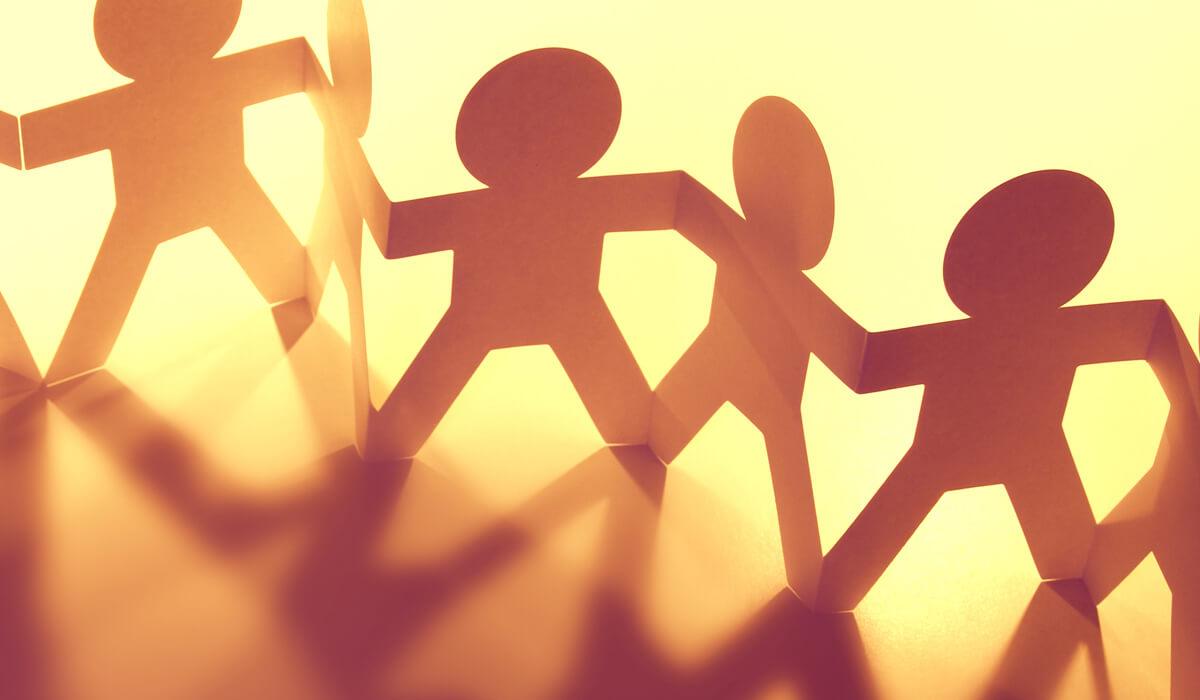 holding hands illustratie