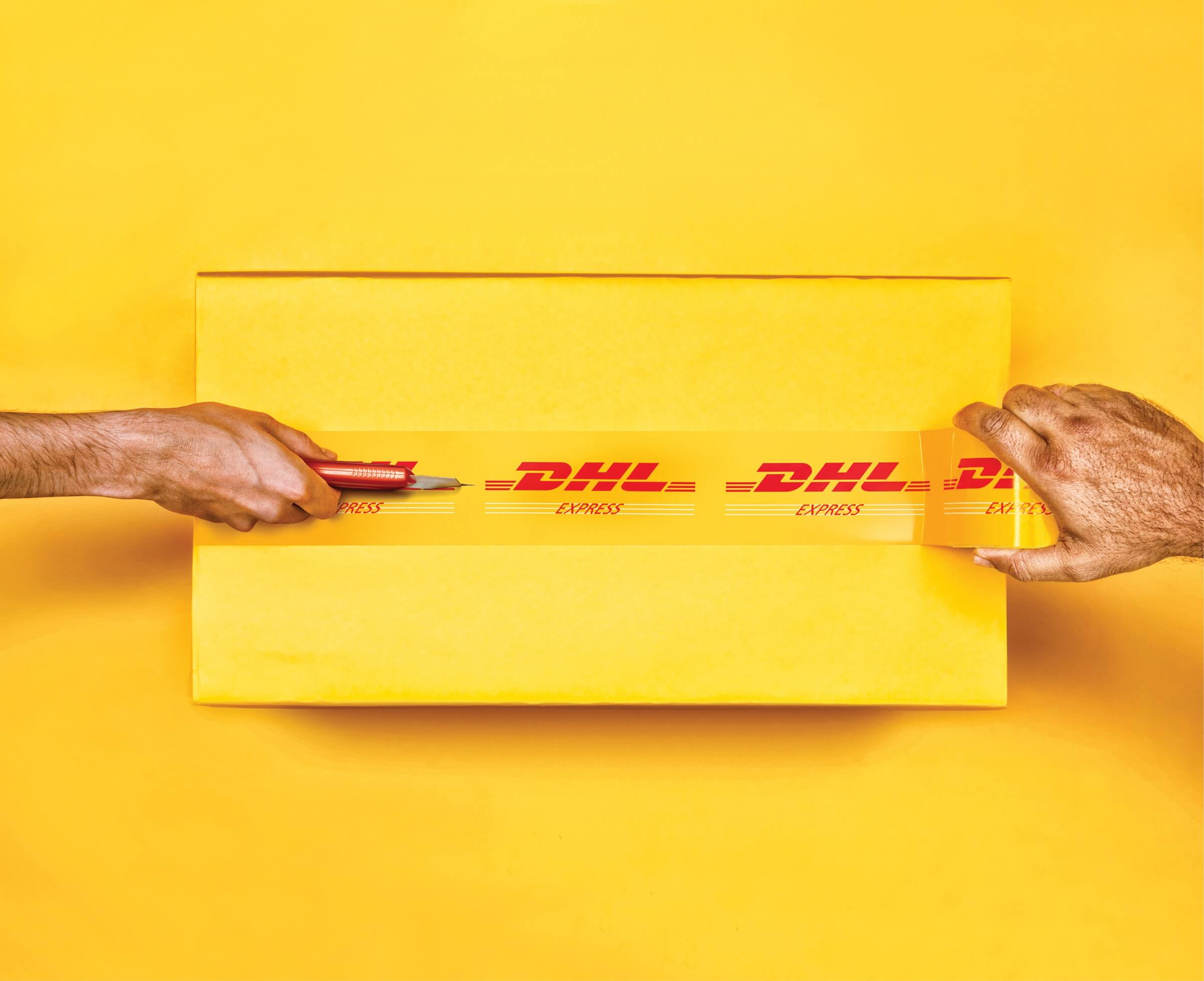 DHL doos tape