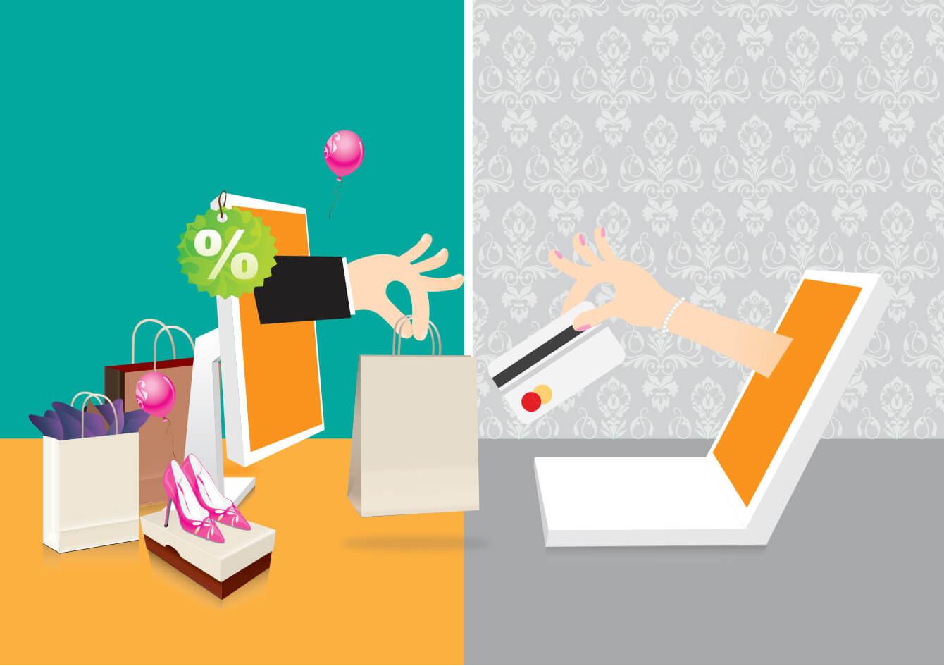 Online shoppen bij een webwinkel